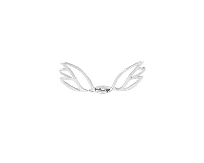 Amoracast Sterling Silver Angel Wings 10x19mm