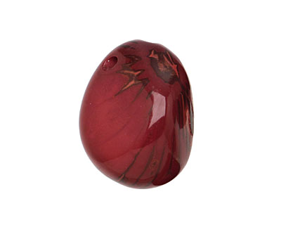 Tagua Nut Merlot Nugget (3-hole) 22-30x37-42mm