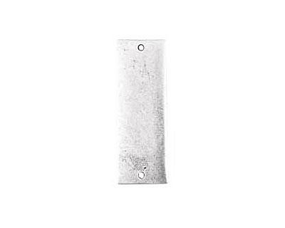 Nunn Design Antique Silver (plated) Flat Grande Thin Tag Link 37x13mm