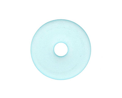 Turquoise Bay Recycled Glass Donut 25mm