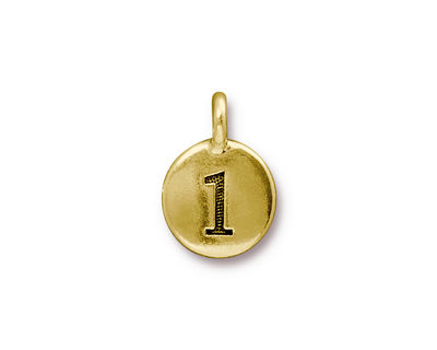 TierraCast Antique Gold (plated) Round Number