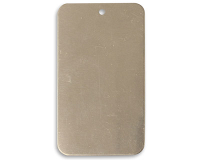 Vintaj Pewter Rectangle Blank 23x40mm