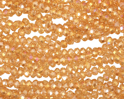 Colorado Crystal Faceted Rondelle 3mm
