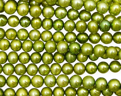 Olive Green Semi-Round 4.5-5mm