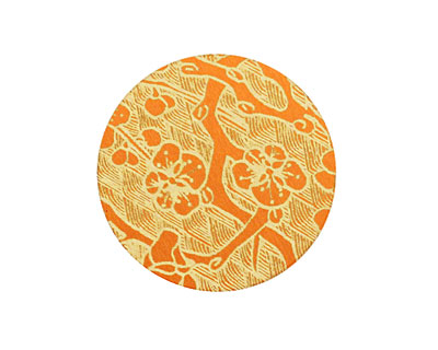 Lillypilly Orange Cherry Blossom Anodized Aluminum Disc 25mm, 24 gauge