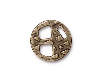 TierraCast Antique Brass (plated) Tribuckle 18mm