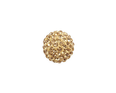 Light Colorado Topaz Pave Round 12mm (1.5mm hole)