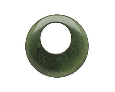 Tagua Nut Forest Green Gypsy Hoop 25mm