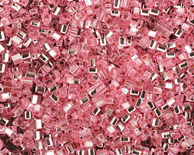 TOHO Pink (with Silver Lining) Triangle 11/0 Seed Bead