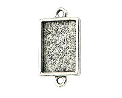 Nunn Design Antique Silver (plated) Mini Rectangle Frame Link 22x12mm