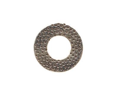 Saki White Bronze Textured Ring Spacer 19mm