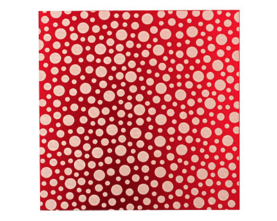 Lillypilly Red Scattered Dots Anodized Aluminum Sheet 3