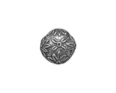Mamacita Beadworks Pewter Daisy Button 15mm