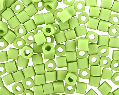 TOHO Opaque Frosted Sour Apple Cube 4mm Seed Bead