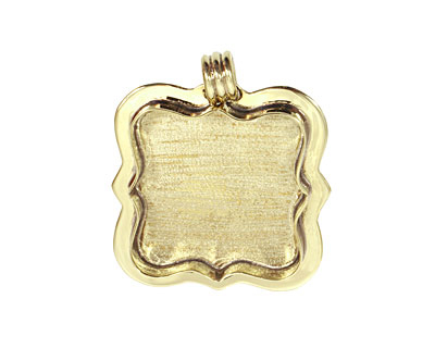 Brass Lipped Antique Square Bezel 37mm