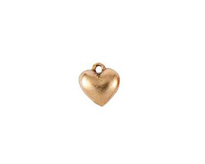 Nunn Design Antique Gold (plated) Small Heart Charm 11x12mm