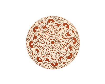 Lillypilly Bronze Lace Anodized Aluminum Disc 25mm, 24 gauge