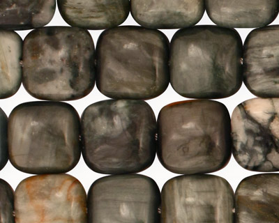 Eagle Eye Jasper Puff Square 12mm