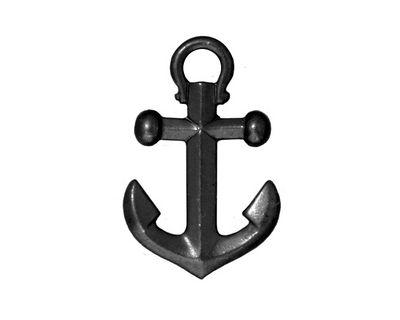 TierraCast Gunmetal Anchor Pendant 18x28mm