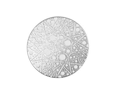 Lillypilly Silver Geometrics Anodized Aluminum Disc 25mm, 22 gauge