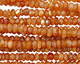 Sunstone Faceted Rondelle 4.5-5mm