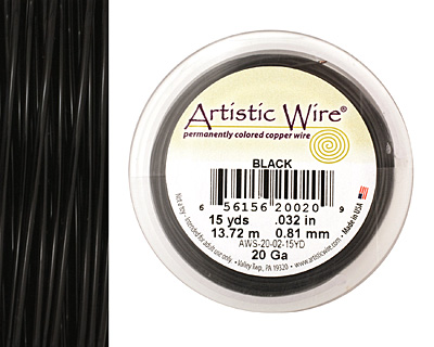 Artistic Wire Black 20 gauge, 15 yards