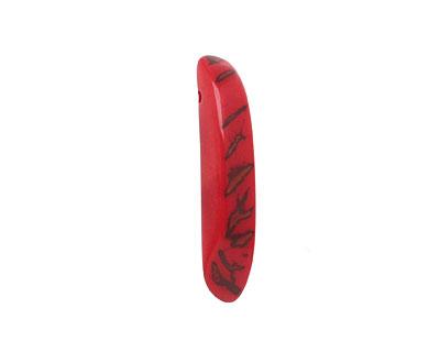 Tagua Nut Red Splinter (top-drilled) 6-8x38-48mm