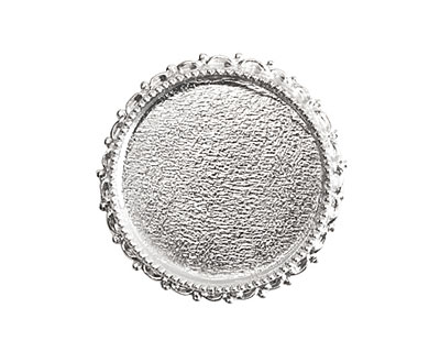 Nunn Design Sterling Silver (plated) Circle Ornate Grande Brooch 39mm