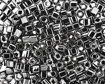 TOHO Metallic Hematite Cube 3mm Seed Bead