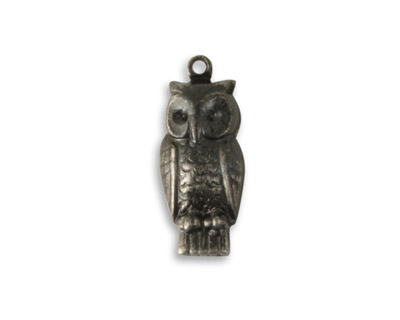 Vintaj Arte Metal Perching Owl Charm 10x22mm