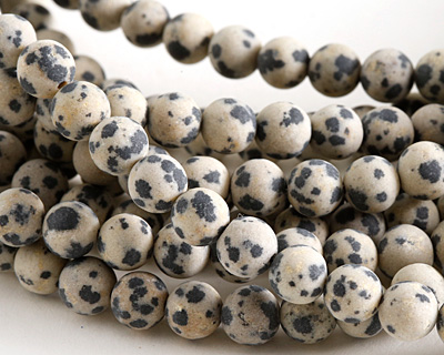 Dalmatian Jasper (matte) Round 6.5-7mm