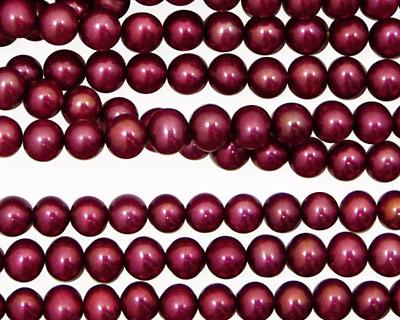 Berry Pink Semi-Round 4.5-5mm