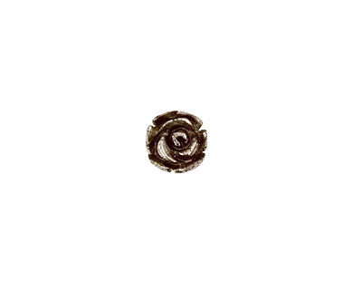 Golden Pyrite (silver tone) Carved Rose 7-8mm