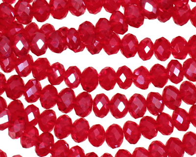 Garnet Crystal Faceted Rondelle 6mm