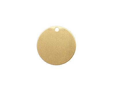 Brass Circle Blank Tag 16mm