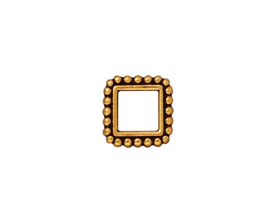 TierraCast Antique Gold (plated) 6mm Square Bead Frame 12mm