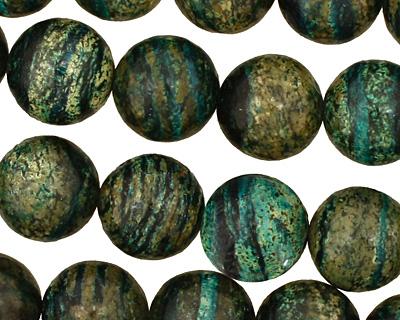 Turquoise Zebra Jasper Round 14mm
