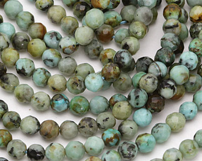 African Turquoise Faceted Round 5mm