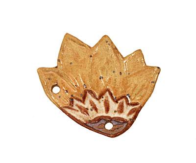 Kylie Parry Ceramic Sunflower Pendant 37x34mm