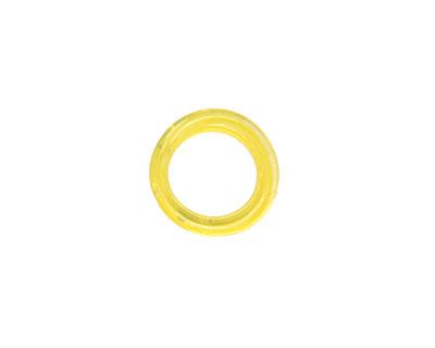 Trinket Foundry Transparent Lemon Mini Glass Bottle Ring 9-13mm