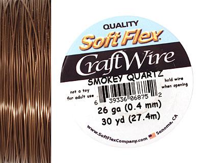 Soft Flex Smokey Quartz Craft Wire 26 gauge, 30 yards