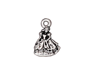 TierraCast Antique Silver (plated) Princess Charm 13x19mm