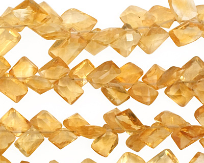 Citrine Faceted Dancing Pillow 8-9mm
