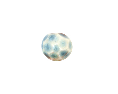 Gaea Ceramic Teal Geode Round 11-12x13-14mm