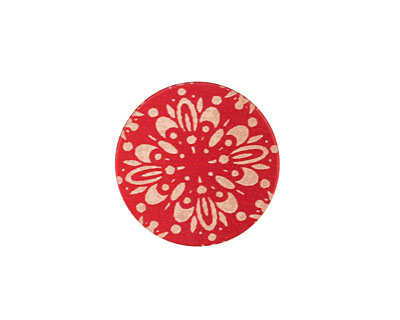 Lillypilly Red Kaleidoscope Anodized Aluminum Disc 19mm, 24 gauge