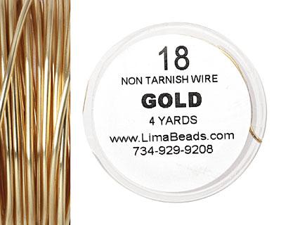 Parawire Non-Tarnish Gold 18 gauge, 4 yards