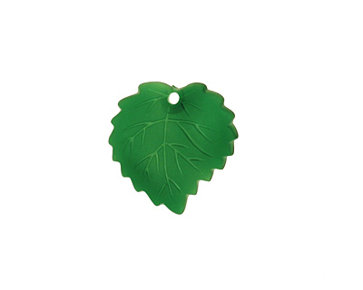 Matte Emerald Lucite Ivy Leaf 16mm