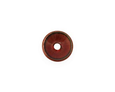 C-Koop Enameled Metal Ruby Red Chip 3-4x12-13mm
