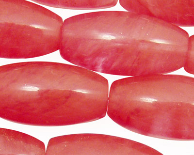 Cherry Quartz Rice 30x15mm