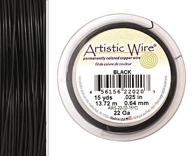 Artistic Wire Black 22 gauge, 15 yards